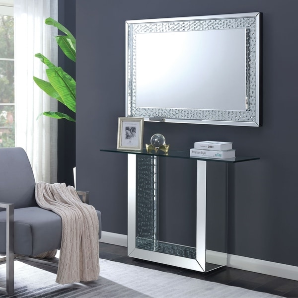 Furniture of America Annalise 2-Piece Console Table and Mirror