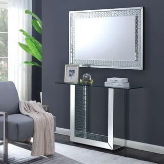 Silver Orchid Haid 2-piece Console Table/Mirror