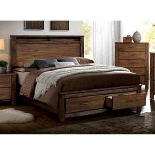 Carbon Loft Llewella Queen Antique Oak 2-piece Storage Bed Set
