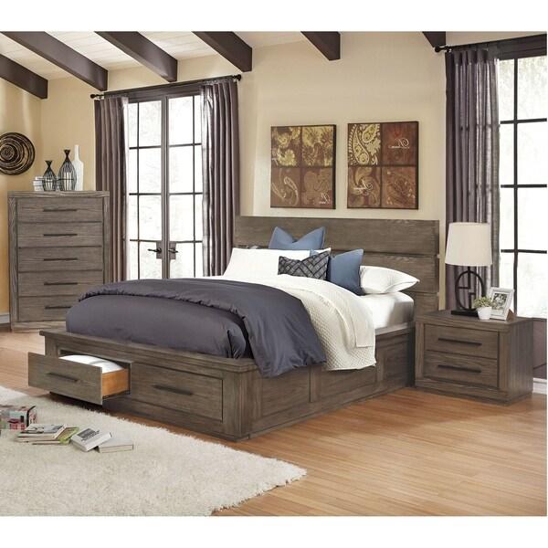 Carbon Loft Lamar Rustic 3-piece California King Storage Bed Set