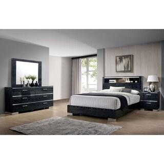 Furniture of America Elysee 3-Piece Eastern King Storage Bed Set