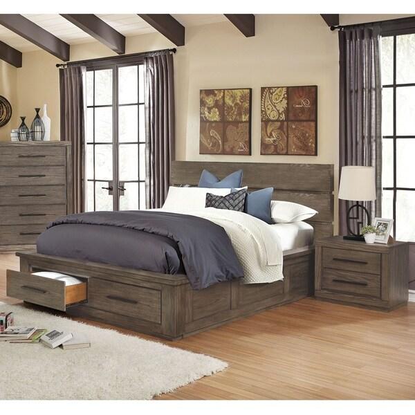 shop kendleton rustic california king storage bed 3-piece