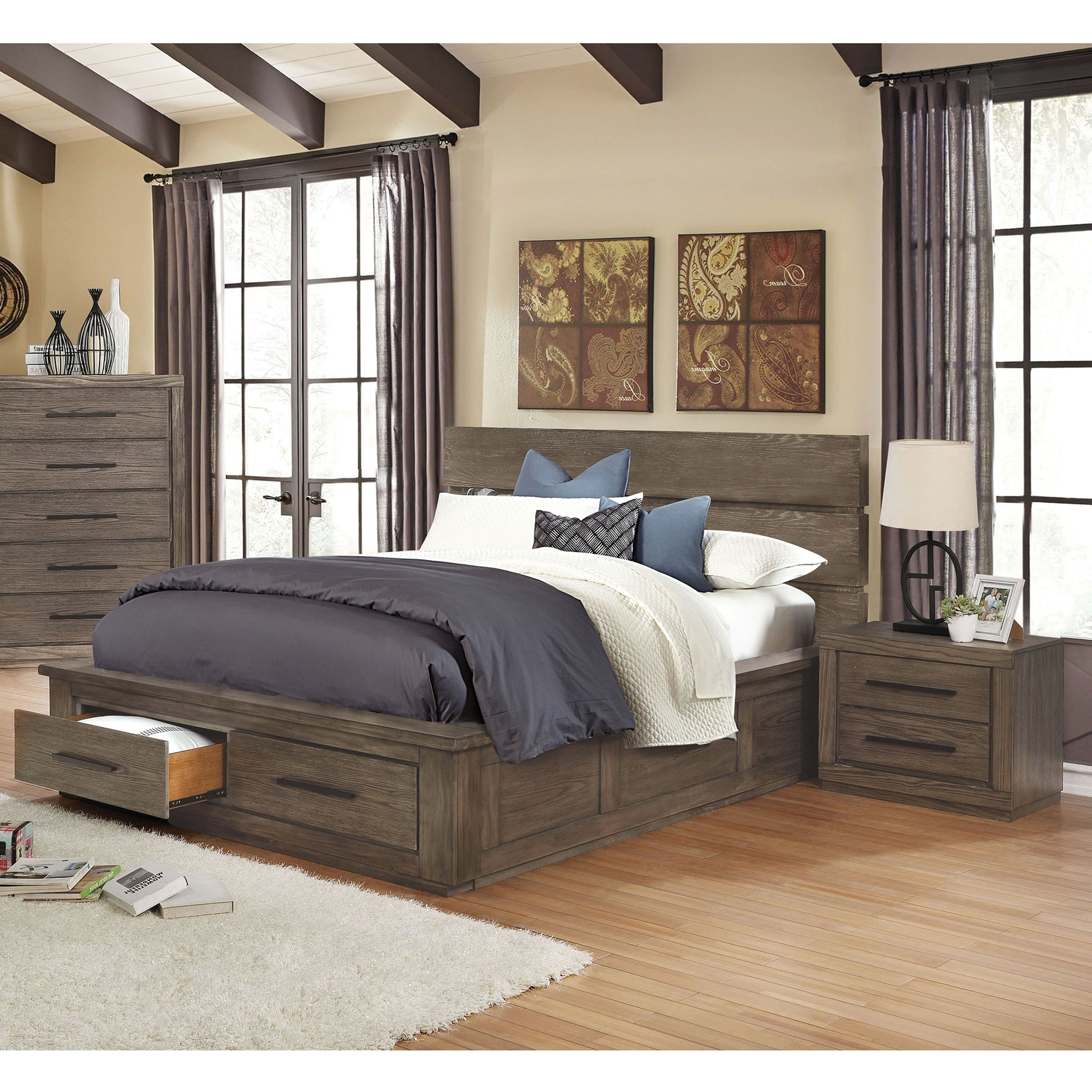 Carbon Loft Lamar Rustic California King Storage Bed 2-piece Set