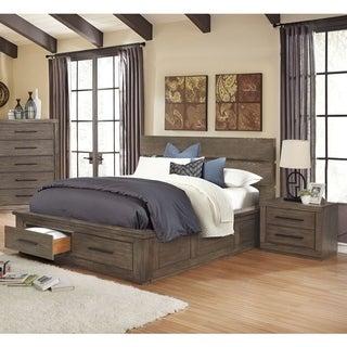 Carbon Loft Lamar Rustic California King Storage Bed 2-piece Set