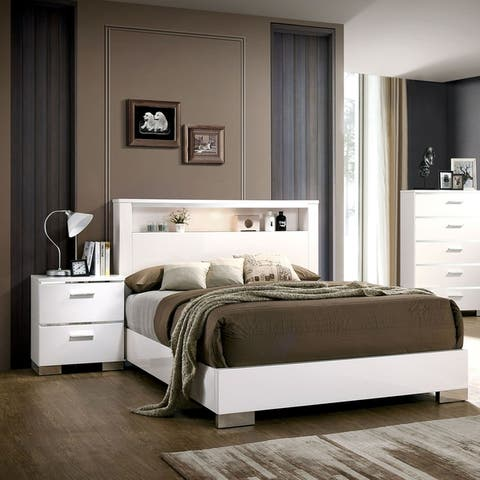 Buy Chrome, White Bedroom Sets Online at Overstock | Our ...