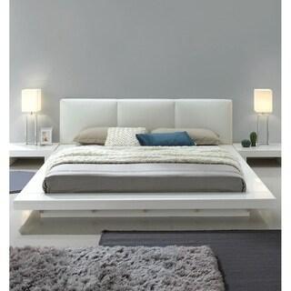 Carbon Loft Ballingham Gloss White Low Profile Upholstered Bed