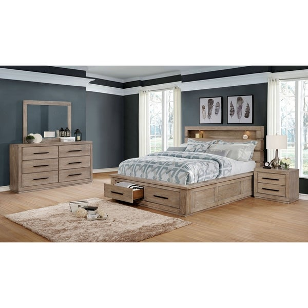 Carbon Loft Beckett Rustic Eastern King Storage Bed 3-piece Set
