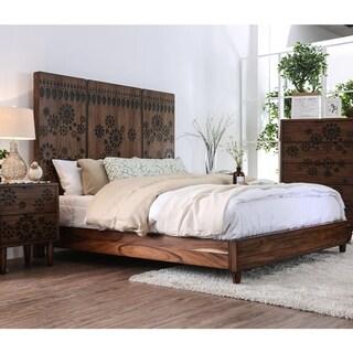Carson Carrington Dragr Rustic Dark Oak Bed