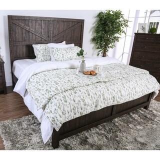 Carbon Loft Oyeniran Rustic Barn Door Bed