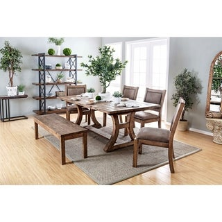 The Gray Barn Powder Hill 6-piece Dining Table Set with Bench