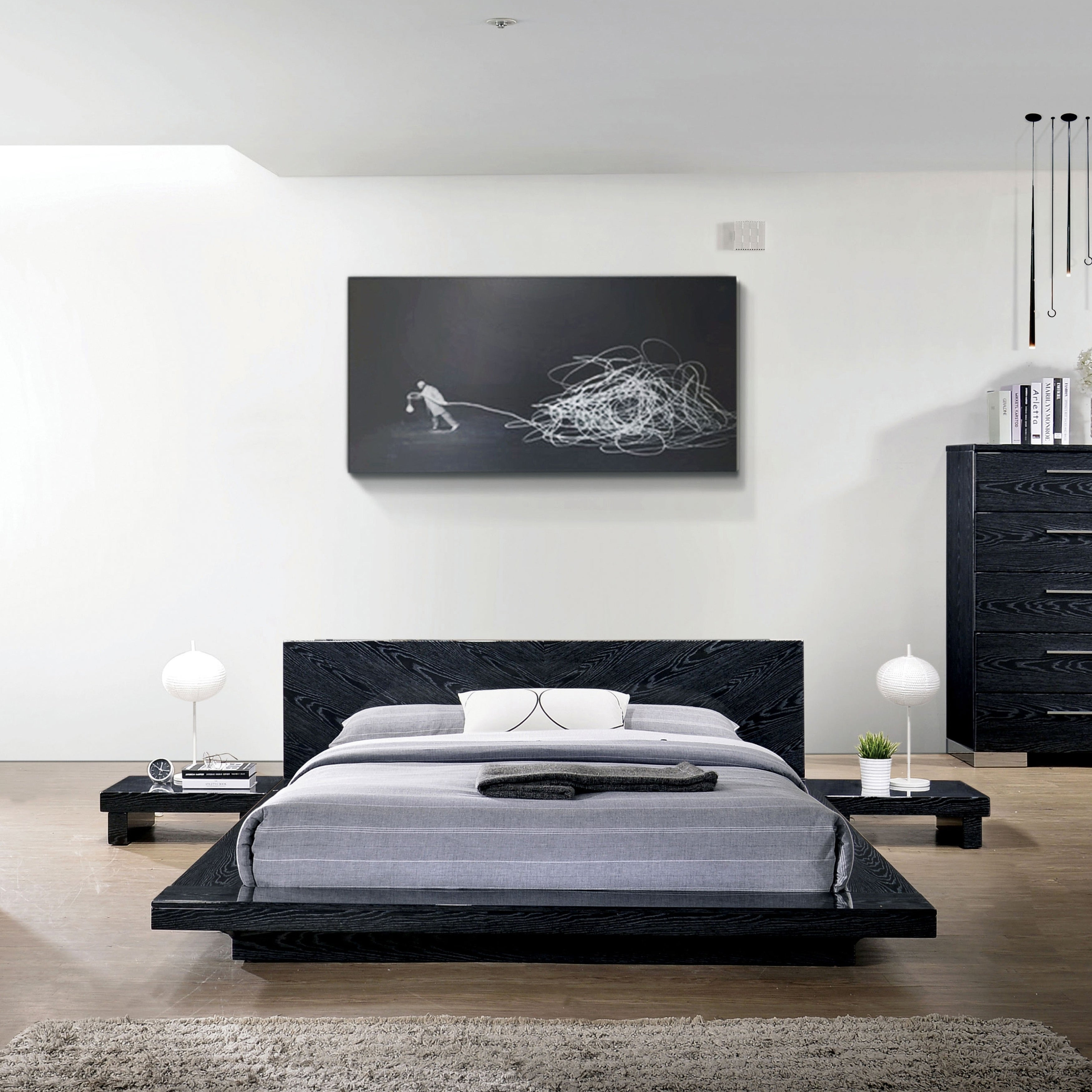 Furniture Of America Roso Contemporary Solid Wood Platform Bed Overstock 25324577 White California King