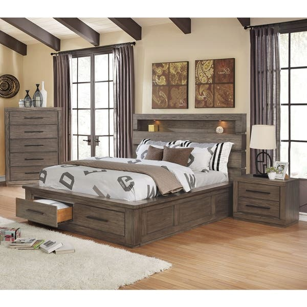 Queen Storage Bedroom Set | Shop Carbon Loft Beckett 3 Piece Queen Storage Bed Set On