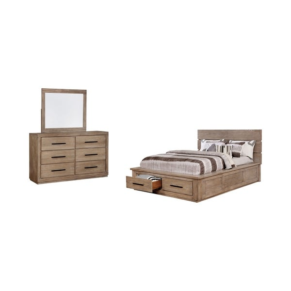 Carbon Loft Lamar Rustic Queen Storage Bed 2-piece Set