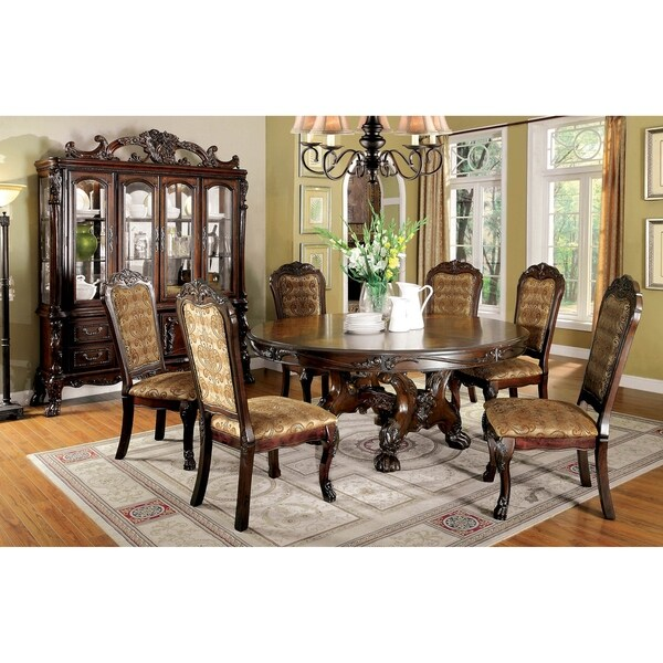Furniture Of America Dubelle 7 Piece Formal Dining Set: Shop Furniture Of America Rutherford 7-Piece Dining Table