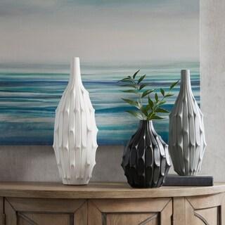 Madison Park Dune White/ Gray/ Black Textured Vase (Set of 3)