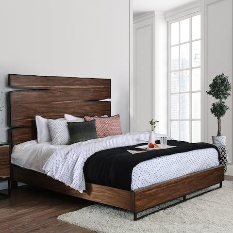 Carbon Loft Bourdain Rustic Dark Oak Bed