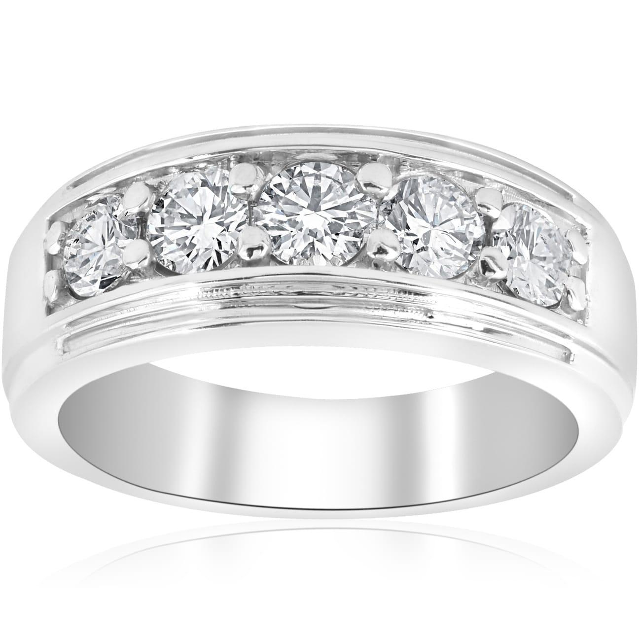 Shop Pompeii3 Platinum 1 Ct Tdw Mens Diamond Wedding Ring Band