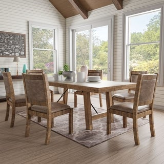 Link to Furniture of America Fitzgerald 7-piece Dining Table Set Similar Items in Dining Room & Bar Furniture