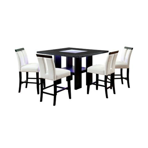 Furniture of America Blanton 5-piece LED Dining Table Set