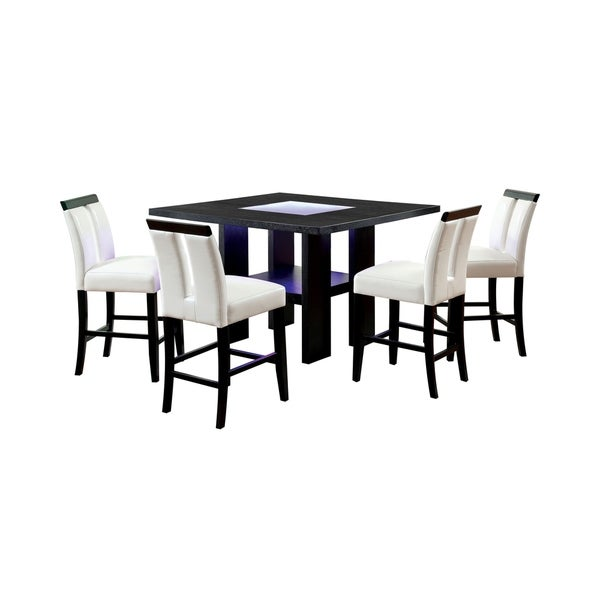 Furniture of America Blanton 5-Piece LED Dining Table Set