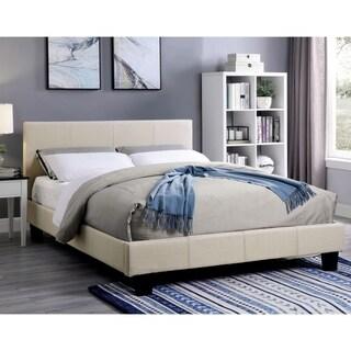 Shop Phoebe Vinyl Platform Bed With Round Splayed Legs In