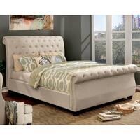 Furniture of America Britton Twin or Full Nailhead Trim Sleigh Bed