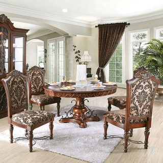 Furniture of America Narl Traditional Cherry 5-piece Round Dining Set