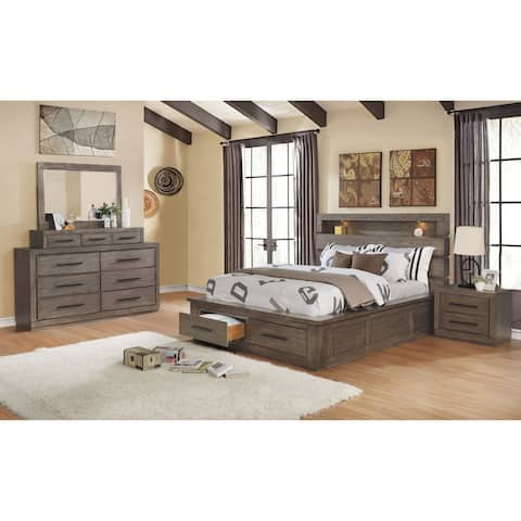 Carbon Loft Beckett Rustic California King Storage Bed 3-piece Set