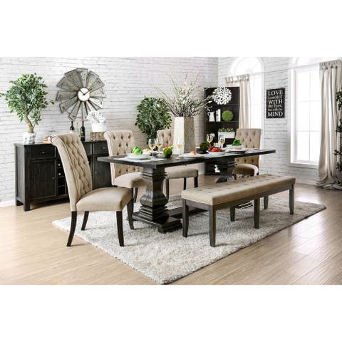 Furniture of America Kaolinovo 6-piece Dining Table Set with Bench