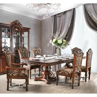 Furniture of America Narl Traditional Cherry 7-piece Dining Table Set