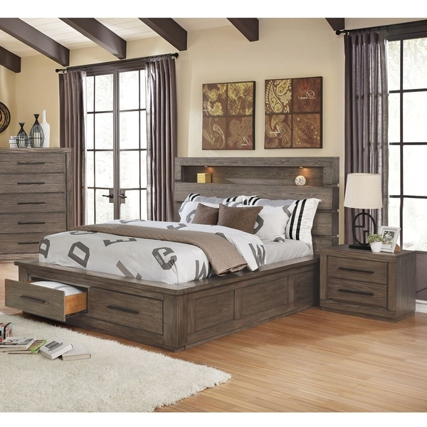 Carbon Loft Beckett Rustic California King Storage Bed 3-piece Set
