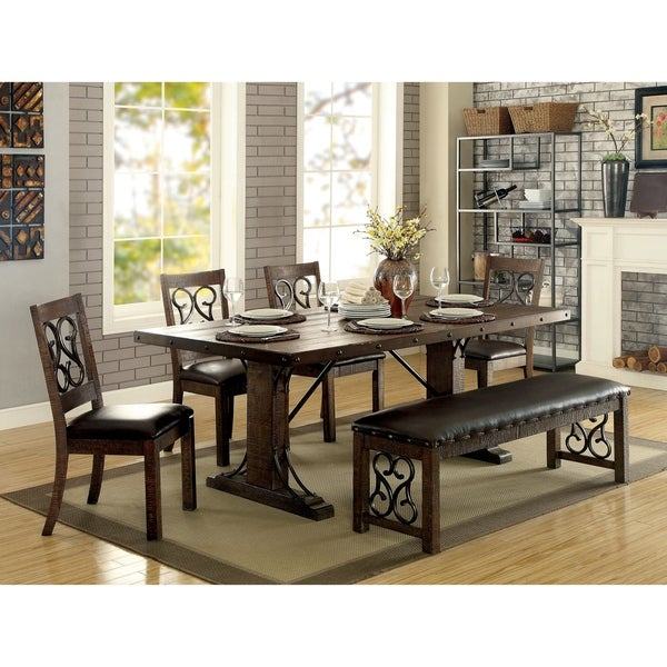 Florentine Dining Room: Shop Furniture Of America Florentine Brown/Black Wood