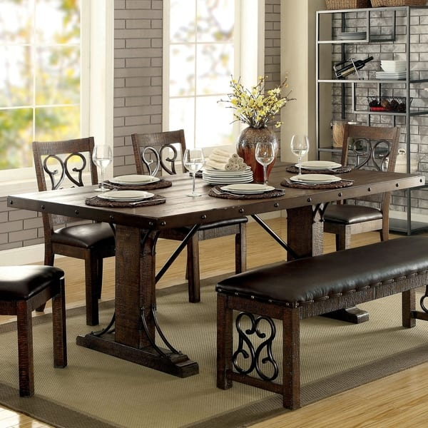 Walnut 6 Piece Dining Table Set