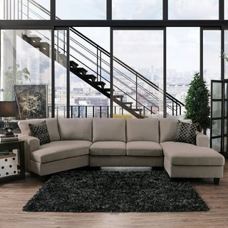Copper Grove Osijek Light Gray Linen Fabric Modular Sectional