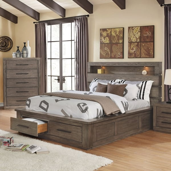 Shop Carbon Loft Beckett Rustic Eastern King Storage Bed Set ...