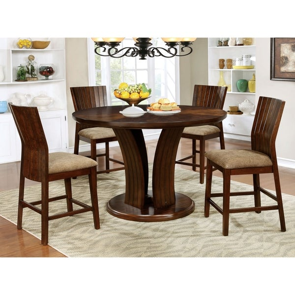 shop furniture of america sabrina 5 piece counter height table set on sale free shipping. Black Bedroom Furniture Sets. Home Design Ideas