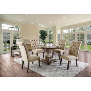 The Gray Barn Orchard Slope 5-piece Round Pedestal Dining Table Set