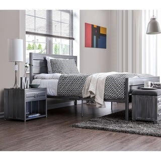 Furniture of America Albee 3-Piece Full Platform Bed Set
