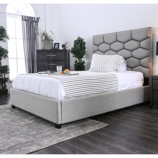 Strick & Bolton Novello Twin or Full Tufted Bed