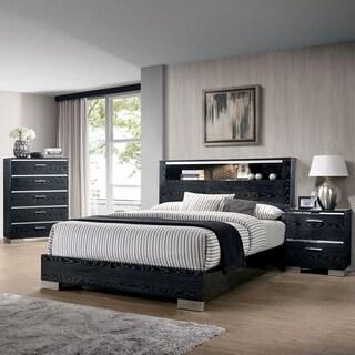 Furniture of America Elysee 3-Piece Queen Storage Bed Set