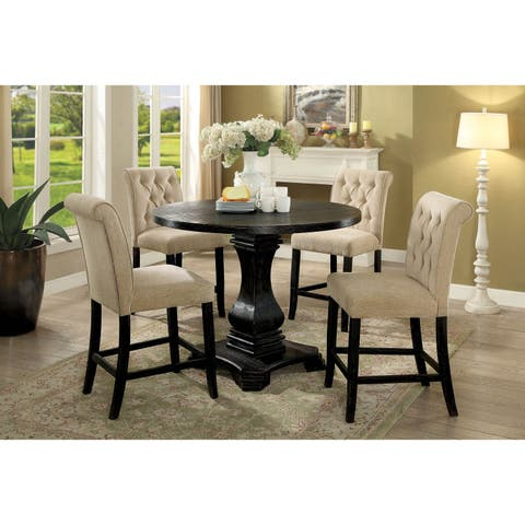 Copper Grove Kaolinovo 5-piece Round Counter Height Table Set