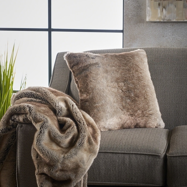 Shop Toscana Faux Furry Pillow And Throw Blanket Combo Set Of 2 By