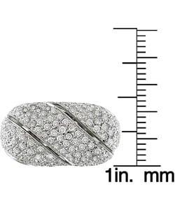 Miadora 18k White Gold 2-3/8ct TDW Diamond Ring
