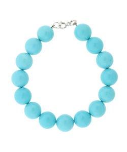 Glitzy Rocks Sterling Silver Blue Turquoise Bead Bracelet