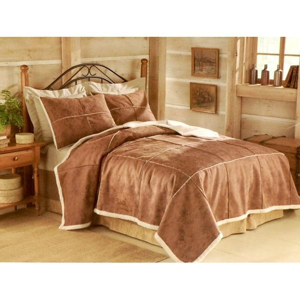 Columbia Hart Mountain Brown Microsuede Comforter