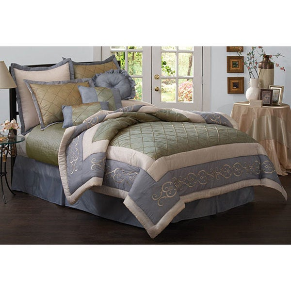 Gretta Luxury Comforter Set with Bonus Coverlet (King)