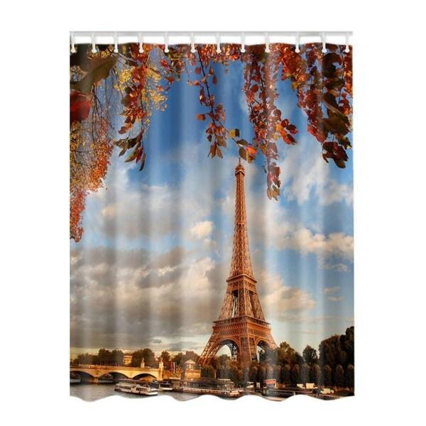 Shop Shower Curtain Waterproof Digital Print 180180 CM With 12 Hooks
