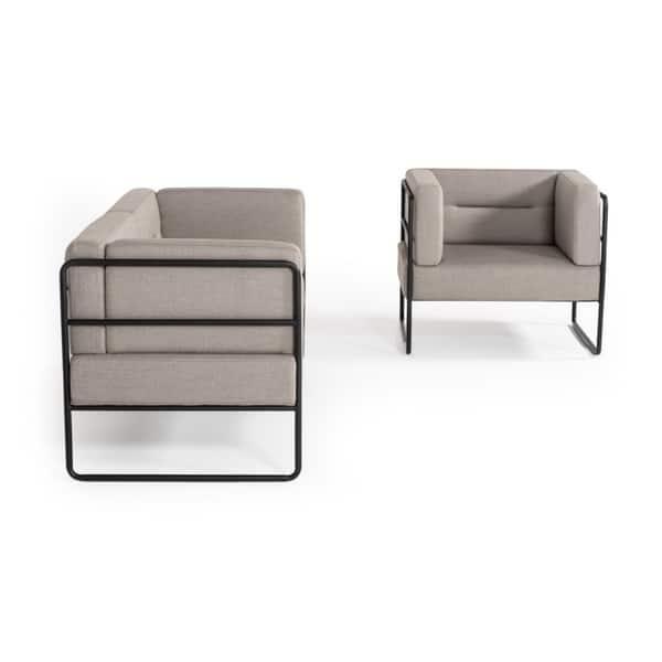 Groovy Shop Modrest Norman Modern Grey Fabric Lounge Chair Free Machost Co Dining Chair Design Ideas Machostcouk