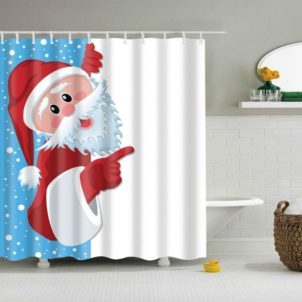 Shop Bathroom Shower Curtains Funny Merry Christmas Waterproof Polyester