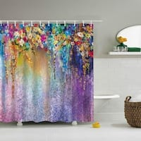 Waterproof Shower Curtain With 12 Hooks Beautiful Patterns